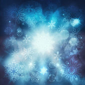 Christmas luxury blue background with snowflakes — Stock fotografie