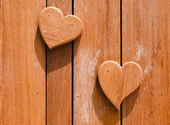 Wooden hearts shaped — Stock Photo