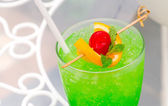 Green apple cocktail — Stock Photo