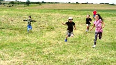 Kids Running at Race — Stock video