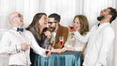 Friends Laughing Hilarious — Stock Photo