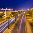 Light Trail on Metropolitan Road — Stock Photo #81087846