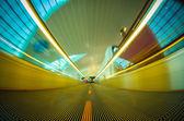 Airport moving walkway — Stok fotoğraf