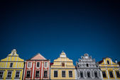 Colorful houses inTelc — Stock Photo