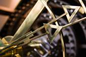 Detail of clock hand tips — Stock Photo