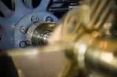 Detail of clock internal parts — Stock Photo