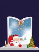 Visit Santa Claus, — Stock Vector