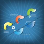 красочный векторный дизайн для расположения технологического процесса — Cтоковый вектор