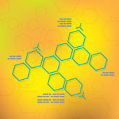 Science chemical hexagonal molecular — Stock Vector