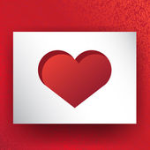 Valentine heart vector design. — Stock Vector