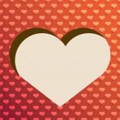 Valentine Love Heart background — Stock Vector