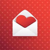 Valentine Love Heart  — Vettoriale Stock