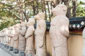Čínský zvěrokruh znamení socha — Stock fotografie