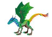 Dragón de temporadas — Vector de stock