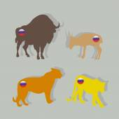 Endangered Russian animals — Stockvektor
