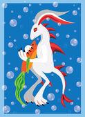Podvodní králík — Stock vektor