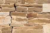 Texture. Wall lined with stone wild — Stock Photo