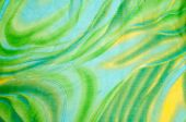 Silk fabric texture, background. green and yellow color — Foto de Stock