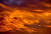 Summer steppe. sunset, sunrise. Fiery Sky a good saver, backgrou — Stock Photo