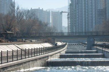 Almaty, Kazakhstan. 18/12/2014. Construction of multi-storey, mu
