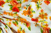 Cotton fabric texture flowers. fabric Baptiste. batiste, cambric — Stock Photo