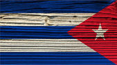 The texture of old wood (board).flag of Cuba — Stock Photo