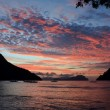 Sunset on a tropical island. El Nido. Philippines. — Stock Photo #56925231
