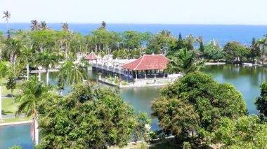 Dans le Palais de l'eau. L'île de Bali. Indonésie. — Vidéo