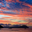 Sunset on a tropical island. El Nido. Philippines. — Stock Photo #58796855
