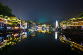 Evening in the town Fenghuang The province of Hunan China — Stockfoto