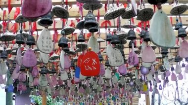 Amulets in Taoist temples. Zhangjiajie. China. — Stock Video