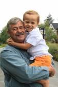 祖父和孙子 — 图库照片