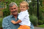Grandfather with grandson — Stockfoto