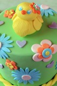 Easter cake with chick — Stock Photo