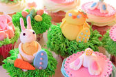 Easter bunny cupcakes — Stock Photo