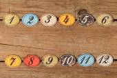 Vintage number buttons — Stock Photo