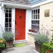 Charming red front door — Stockfoto #77035213