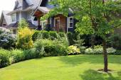Beautiful home and garden — Stock Photo