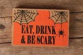 Halloween spider decor — Stock Photo