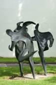 Sports Sculpture Mainz — Stock Photo
