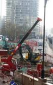 Construction Site Canary Wharf — Stock Photo