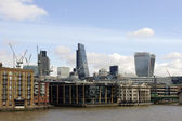 High-rise buildings along the River Thames — Stock Photo