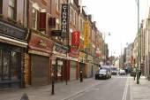 Магазины в Лондоне Кирпичный переулок — Стоковое фото