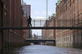 City of warehouses Hamburg — Stock Photo