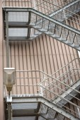 External staircase industrial building — Stock Photo