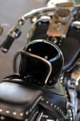 Motorcycle and helmet — Stock Photo