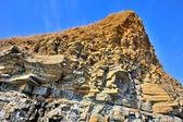 Yellow cliff of sandstone — Stock Photo