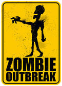 Zombie Outbreak — Stock Vector