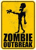 Zombie Outbreak — Stock Vector