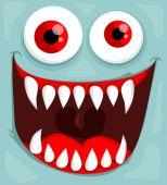 Cute monster face — Stock Vector
